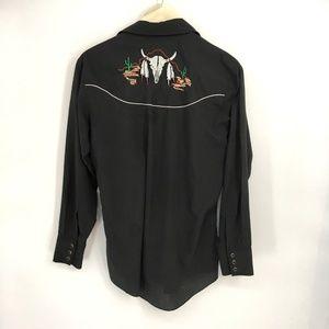 Vintage Shirts - Vintage Western Cowboy Button Down Shirt